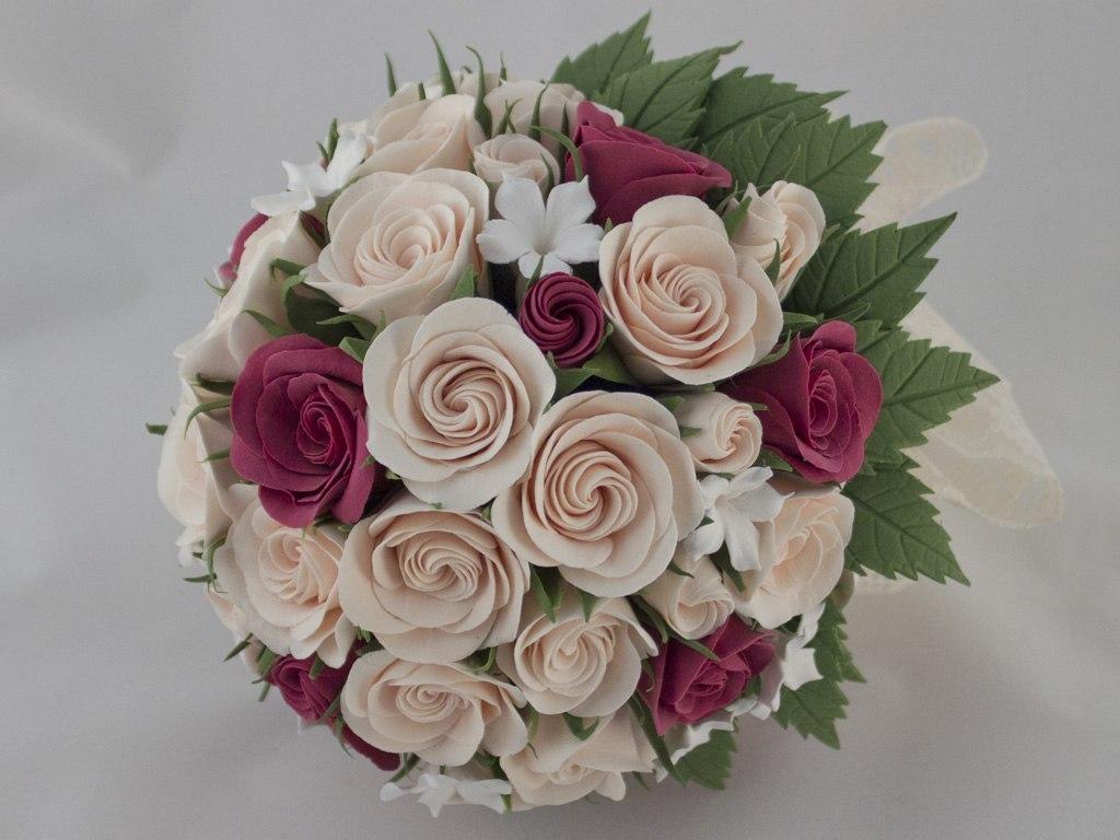 А у невесты живые цветы или искуственны оригинальный подарок своими руками на юбилей женщине